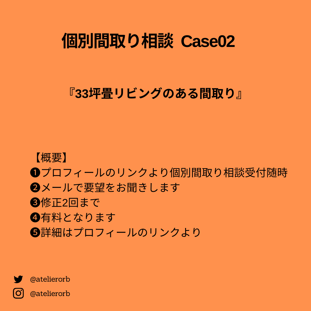個別間取り相談Case02概要